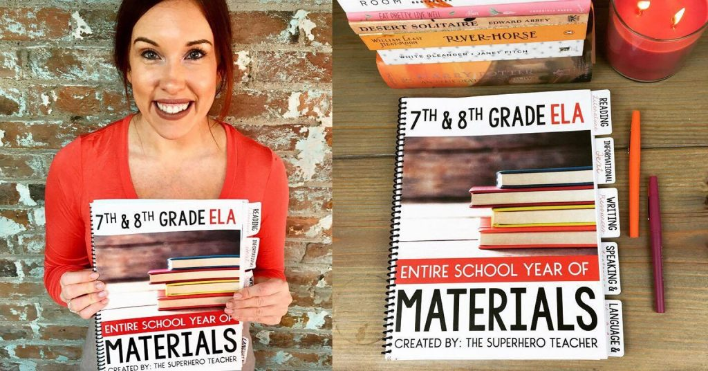 7th and 8th Grade ELA Materials
